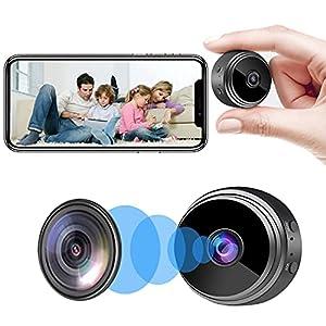 Flashandfocus.com 41uEyPCqGAS._SS300_ Camera Hidden Home Security Camera WiFi Mini Spy Camera Video Recorder with Audio, Nanny Cam with Motion Detection Night…