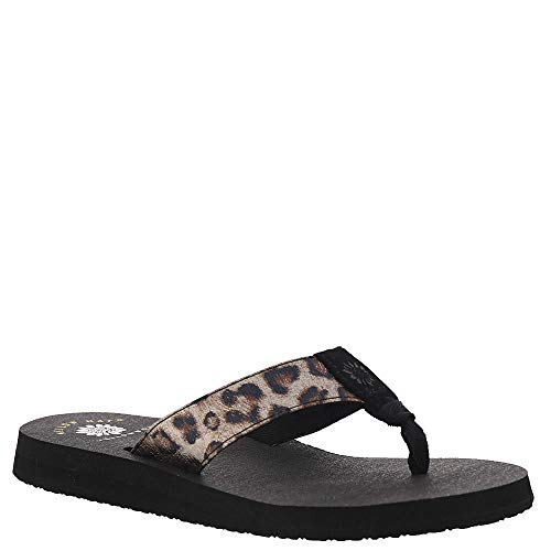 Taupe Leopard - Yellow Box Nabilah Women's Sandal 10 B(M) US Taupe-Leopard