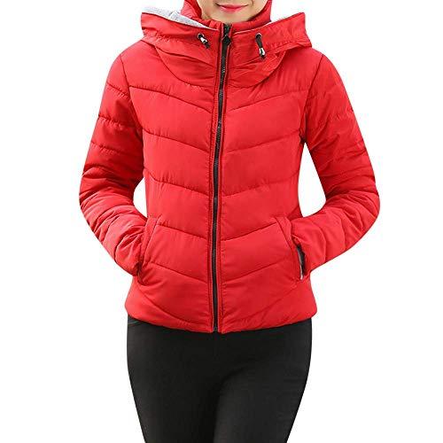 l'hiver capuche vrac épais à Zhrui pour manches à Jacket en Women court d'extérieur femmes longues glissière fermeture pour manteau EEq7BU