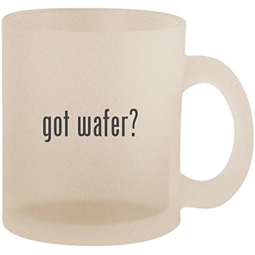got wafer? - Frosted 10oz Glass Coffee Cup -