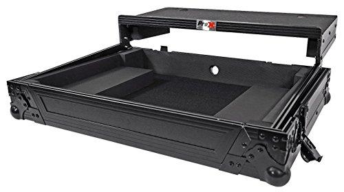 ProX XS-DDJSRLTBL Black ATA Style Flight Road Case with Glide Laptop Shelf for DDJ-SR and DDJ-RR Controller Black ()