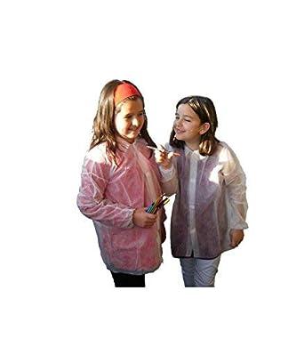 Bata infantil en TST de polipropileno cierre frontal por velcro sin bolsillo (AZUL)