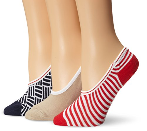 Sperry Top-Sider Women's Deck Tiles Canoe LinerNo Show Sock 3-pack