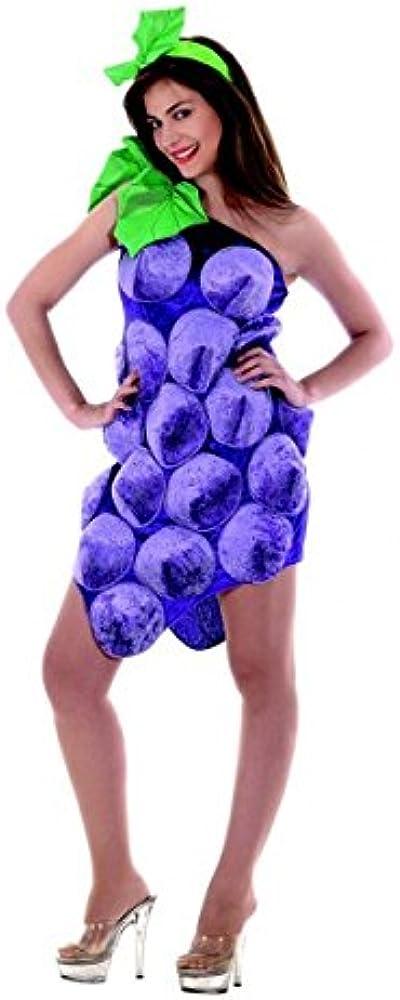 Disfraz, disfraz de cuerpo entero de uva Uvas, lila y pelo maduro ...