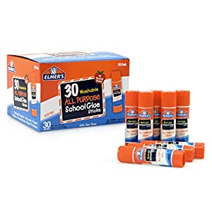 Elmer's All Purpose School Glue Sticks, Washable, 7 Gram, 30 Count