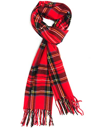 Calvia Super Soft & Warm Cashmere Feel Winter Scarf Unisex (Royal Stewart Tartan)