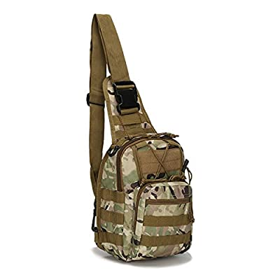 FAMI Outdoor Tactical Backpack,Tactical Sling Backpack,Tactical Shoulder Bag,Chest Pack,Crossbody Bag,Daypack, Outdoor Sport Pack for Camping,Hunting, Hiking, Trekking,Cycling