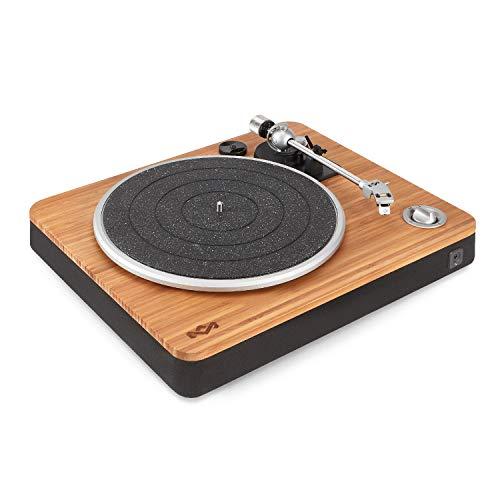 House of Marley, EM-JT000RC-SB, Stir It Up Turntable, Signature Black (Minimal Record Player)