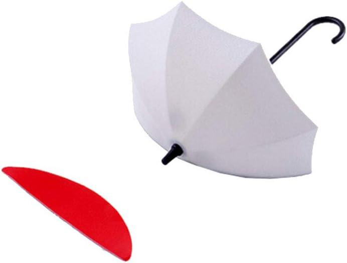 Hemoton 3 unids Multifuncional Adhesivo Paraguas Ganchos de Pared Titular de Pared Clave Organizador Decorativo Colgantes de Pared Ganchos Clave