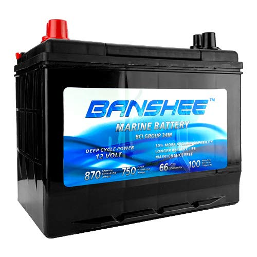 Deep Cycle Marine Battery Group 34 Replaces 34M, 8016-103, SC34DM