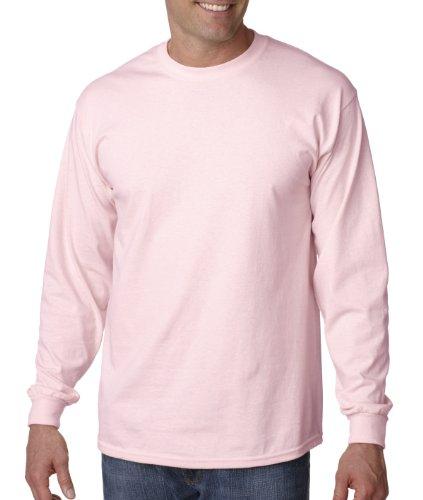 otton Long Sleeve Crewneck T-Shirt, Light Pink, Large ()