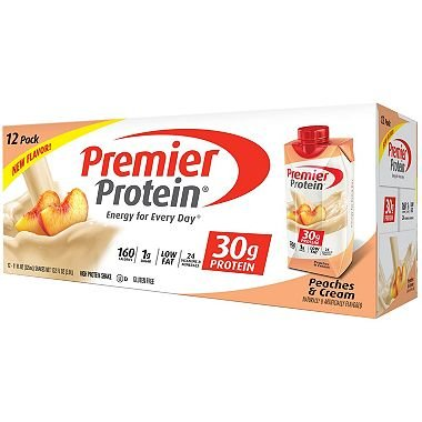 Premier Protein High Protein Shake, Peaches & Cream (11 fl. oz., 12 pk.) (1 pack)