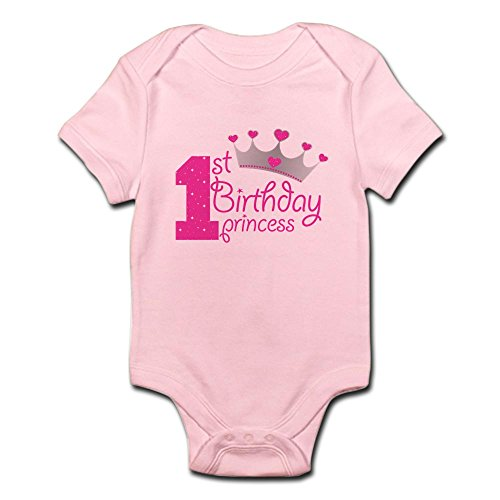 Sparkle Vintage Onesie (CafePress - 1St Birthday Princess Body Suit - Cute Infant Bodysuit Baby)