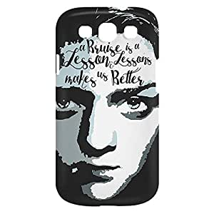 Loud Universe Samsung Galaxy S3 A Bruce is a Lesson and Lessons Makes us Better Print 3D Wrap Around Case - Multi Color