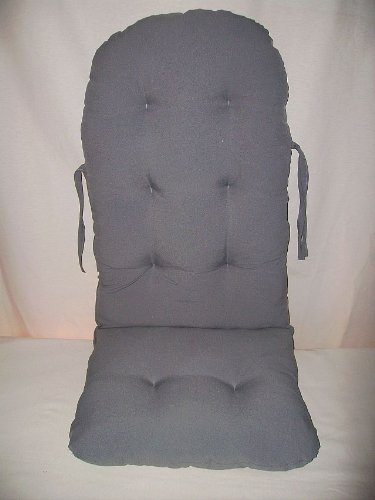 "Rattan im Trend Rocking Chair Seat Padding Cushion ""Grey"" Colour Rattano"