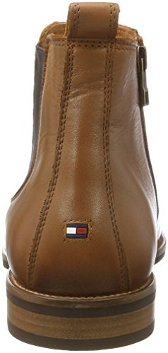 huge selection of e22d4 93ca9 Tommy Hilfiger Herren Essential Leather Chelsea Boots, Schwarz