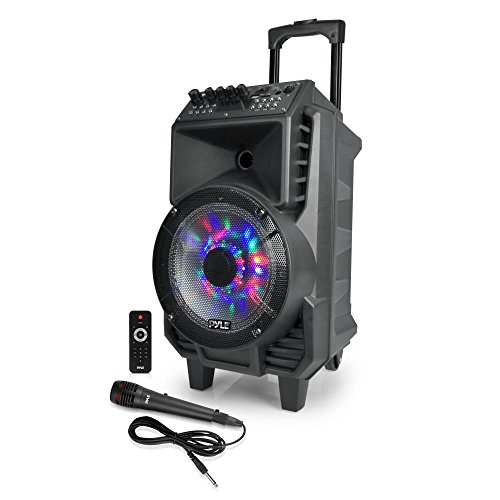 Discover Bargain Pyle Portable PA Speaker & Microphone Kit [Karaoke Sound System] Bluetooth Wireless...