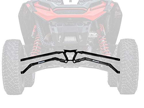 (SuperATV Boxed High Clearance Rear Radius Arms/Rods for Polaris RZR XP Turbo S / S4 (2018+) - Black)