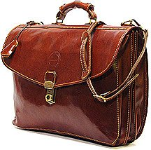 Cenzo 4050 Italian Leather Briefcase Attache by Cenzo