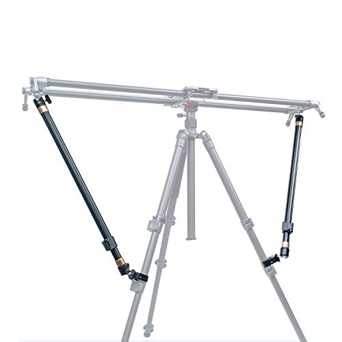 Tripod Stability Arms for Slider Camera Dolly Track Rail Increasing Stability Lightweight Adjustable Length (2 Arm in) - AKUGE from AKUGE
