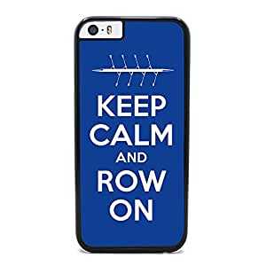 Insomniac Arts - Keep Calm and Row On, Rowing Crew - Case for iPhone 6 Plus, Black Plastic Cover