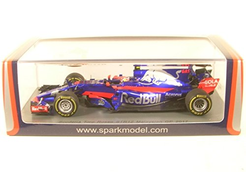 Spark Toro Rosso-Renault STR12-Malaysia GP 2017Car Collectible S5051, Blue/Red