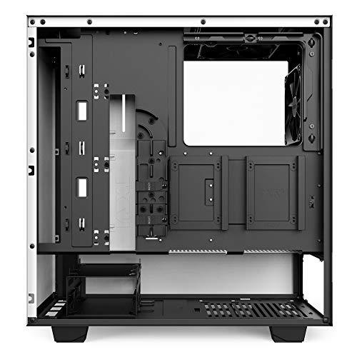 NZXT H500 - Case ATX Mid-Tower per PC - Pannello in vetro temperato - Struttura interamente in acciaio - Sistema di gestione cavi potenziato - Pronto per il raffreddamento ad acqua