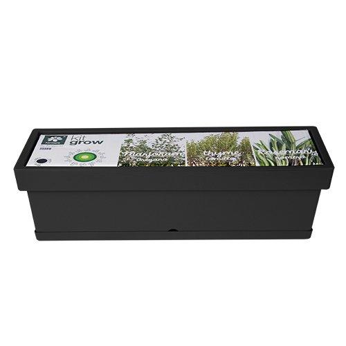 Herstera Garden 12210460 Kit Grow aromaticas, Antracita, 59x18x17 cm