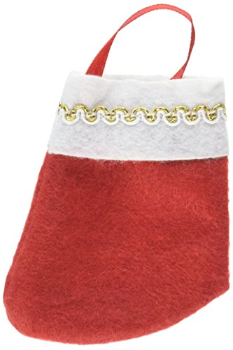 Santa Ultra Mini Felt Stockings, Value Pack, 12 Ct. | Christmas Decoration