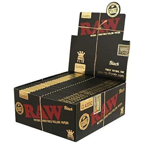 Raw classic black king size slim full box 50 packs - Classic Black Box