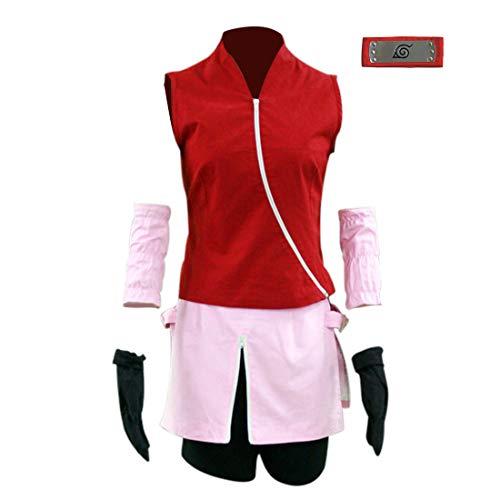 Another Me Anime Naruto Shippuden Haruno Sakura Women's Cosplay Costume Halloween Party Female Size Medium ()