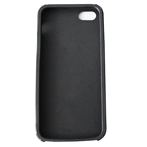 Colorfone PREMIUM CoolSkin Jade / Deux Pièces Cas / Coque / Cover / Gel silicone/ Housse / Case / TPU / Etui / Protection pour Apple iPhone 5/5S Or+Noir