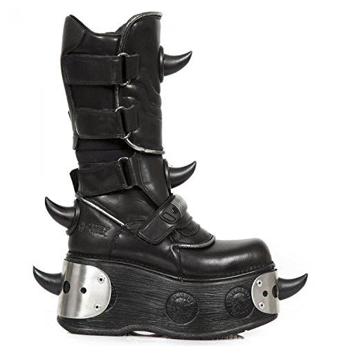 New Rock Boots M.442-c20 Gotico Hardrock Punk Unisex Stiefel Schwarz