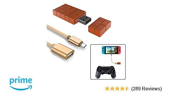 Wireless Controller Adapter For Nintendo Switch Windows Mac Raspberry Pi With A Otg Cable