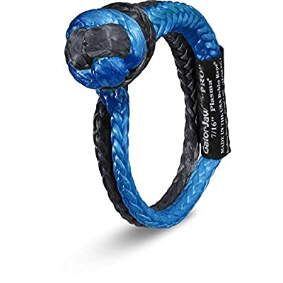Bubba Rope Gator-Jaw 176745PRO Synthetic Soft Shackle (52,300LB Breaking Strength) Blue & Black: Automotive