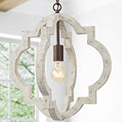 Farmhouse Ceiling Light Fixtures KSANA Farmhouse Chandeliers for Dining Rooms, Wood Orb Chandelier for Kitchen Island, Living Room, Bedroom, Foyer, D 16… farmhouse ceiling light fixtures