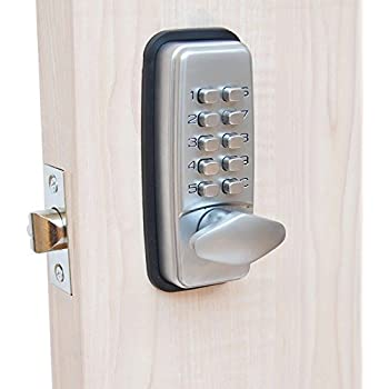 Keyless Entry Door Lock Waterproof Mechanical Exterior