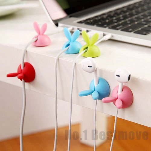 UNAKIM-New 4Pcs Cute Smart Cable Organizer Holder Line Fixer for Home Office - Tampa New In Mall