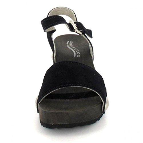 Softclox Sandalette Krone, Farbe: Mørk Ocean