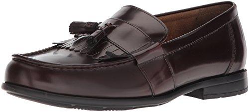 Nunn Bush Men Denzel Moc Toe Kiltie Tassel Slip-On Loafer with KORE Comfort Walking Technology, BURGUNDY, 9.5 W - Tassel Kiltie