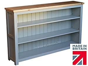 Solid Wood Low Bookcase Bordeaux FB Painted Ft Wide Low - Wide bookshelves
