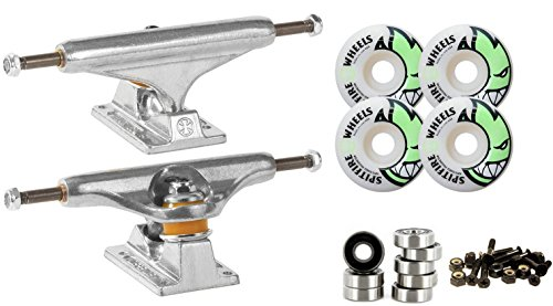 Independent Silver 169mm Truck Package Spitfire Wheels 53mm Abec 7 Bearings