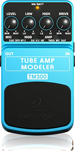 (Behringer TM300 Ultimate Tube Amp Modeling Instrument Effects Pedal)