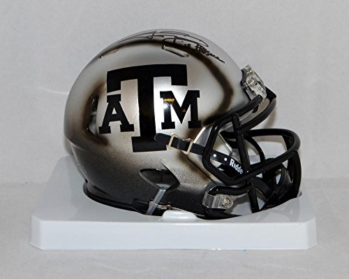 Johnny Manziel Signed Texas AM Aggies Ice Hydro Mini Helmet W/ HT- JSA W Auth