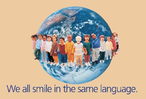 We all smile in the same language. by Schaffer Frank (2001-09-11) Poster ()