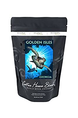 Golden Isles, Georgia - Sea Turtle Diving (8oz Whole Bean Small Batch Artisan Coffee - Bold & Strong Medium Dark Roast w/ Artwork)