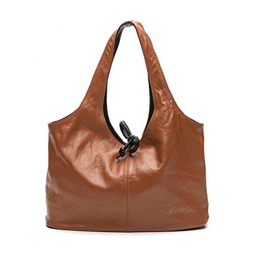 Zerimar Sacchetto Reversible di spalla in pelle per le donne Borsa a  tracolla grande in pelle fa70c1f7825