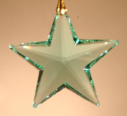- Swarovski 40mm Antique Green Crystal Star Prism