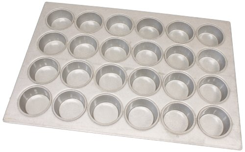 Magna Industries 15338 22-Gauge Aluminized Steel Jumbo Muffin Pan, 3-3/8'' Diameter, 4 x 6 Cups Layout (Pack of 6) by Magna Industries
