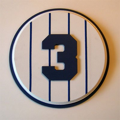 Retired Number 3 Plaque Yankees Babe Ruth - small Babe Ruth Numbers